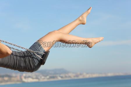 cabelo removido as pernas de mulher