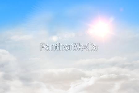 azul ambiente luz solar ilustracao nublado