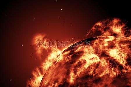 grande, bola, de, fogo, do, sol - 13749933