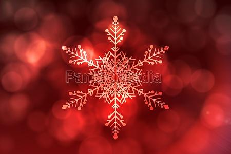 inverno ilustracao delicado cristal floco de