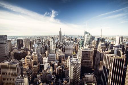vista superior de new york city