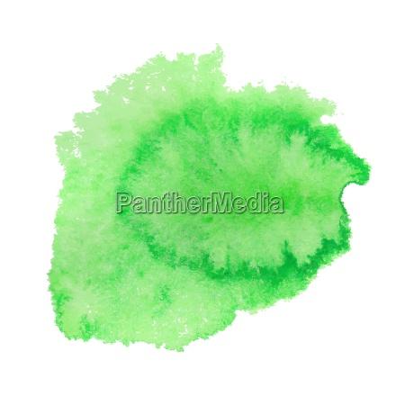 mancha verde da aguarela ilustracao do