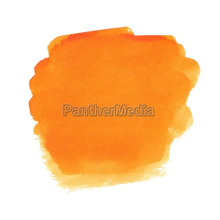 orange aquarell fleck