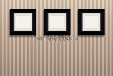 negro frame de retrato palido vazio