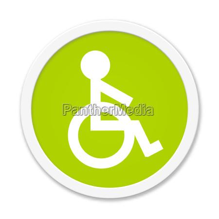 botao verde redonda com o simbolo