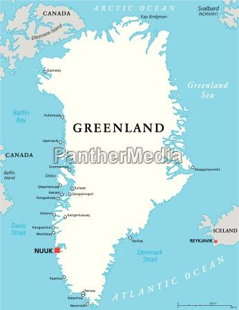 greenland mapa politico