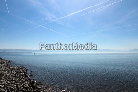 montanhas, alpes, praia, beira-mar, da praia, litoral - 13984779