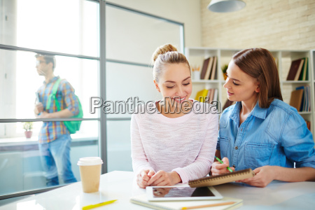 girls consulting