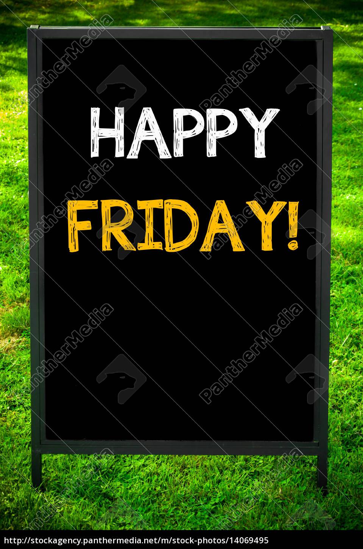 feliz, sexta-feira - 14069495