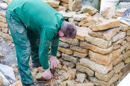 parede seca parede de pedra