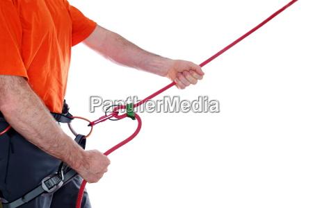 corda da seguranca ao escalar