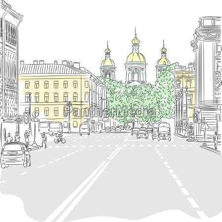 passeio viajar igreja cidade moderno trafego