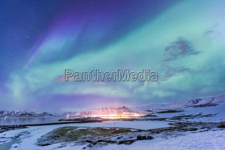 aurora da luz do norte borealis
