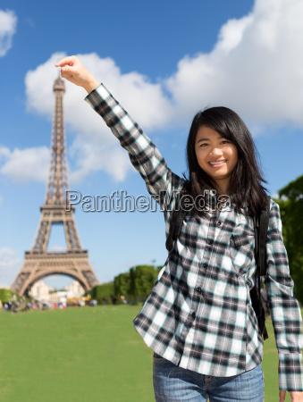 mulher torre passeio viajar ferias asia