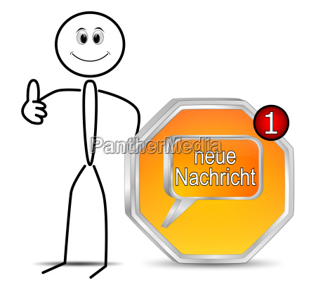 stickman with new message button