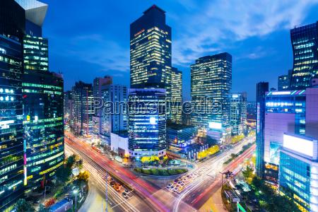 cidade moderno asia noite crepusculo olhar
