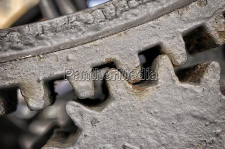 engrenagens do metal do close up