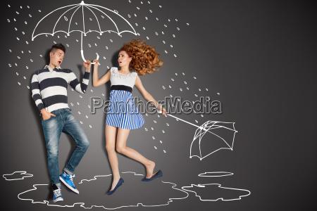 nella pioggia