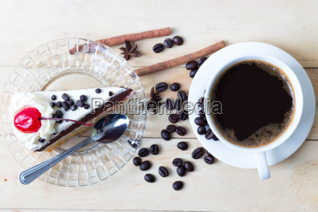 doce de cafe e bolo sobremesa