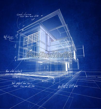 construcao moderna wireframe