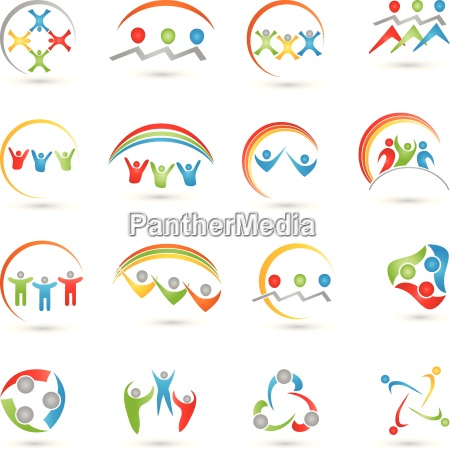 colecao de logotipos de pessoas equipe