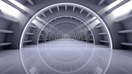 moderno espaco interior futurista abstrato vazio