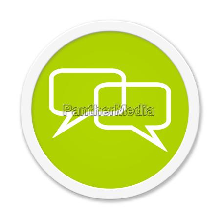 comunicacao botao dialogo conferencia reuniao on