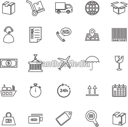 linha icones da logistica no fundo