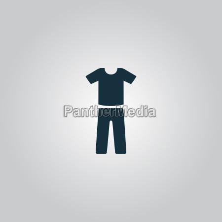 uniforme calcas e t shirt icone