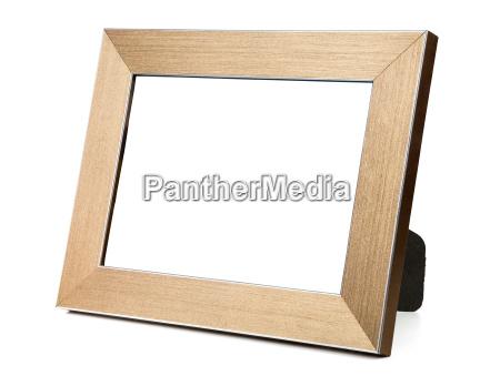 frame de retrato dourado vazio
