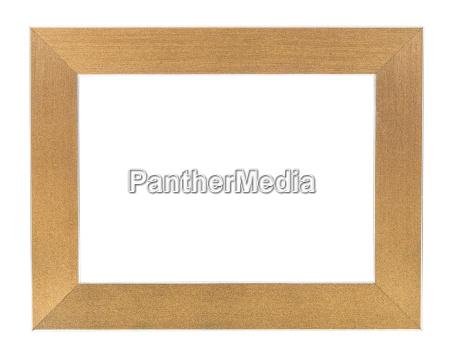 frame de retrato vazio dourado
