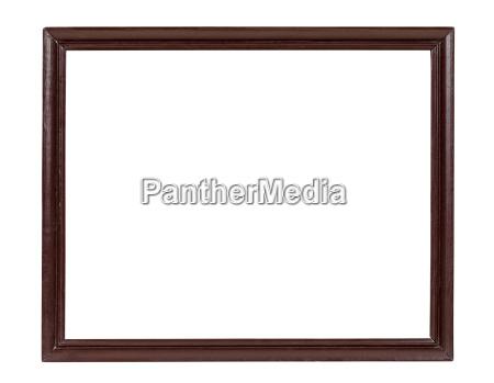 escuro quadro de retrato de madeira