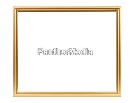 frame de retrato vazio decorativo dourado