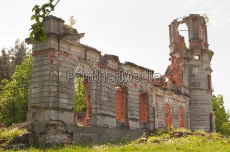 ruinas de uma casa de campo