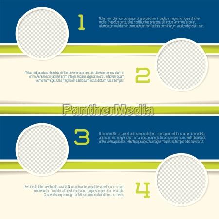 projeto infografico com recipientes circulo de