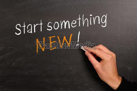comecar algo novo