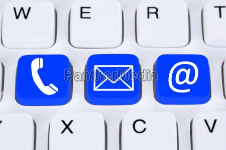 contato de comunicacao com telefone carta