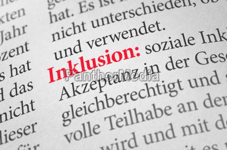 dicionario com o termo inclusao