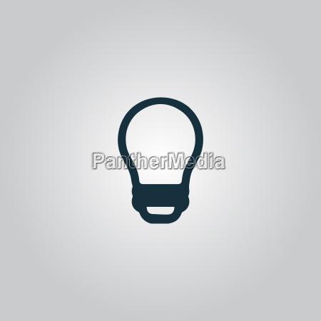lampada conduzida bulbo do vetor isolado