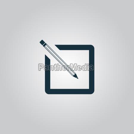 icone de registo simples