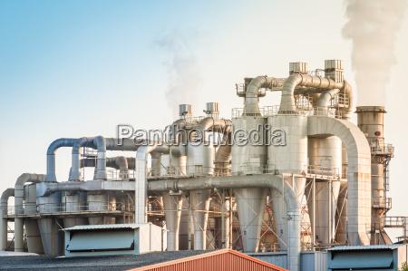 planta industrial de uma fabrica de