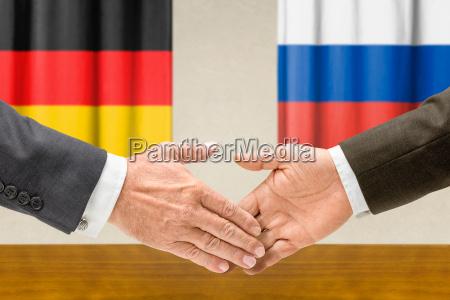 representantes da alemanha e da russia