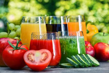 jardim fruta vegetal suco fresco