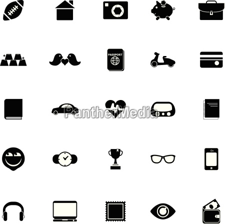 personal data icons on white background