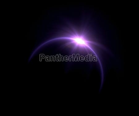 alargamento roxo do anel do eclipse