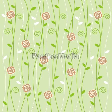 folha flor planta rosa espiral textil