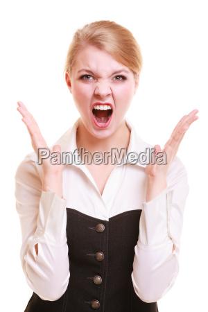 mulher furiosa da empresaria irritada que