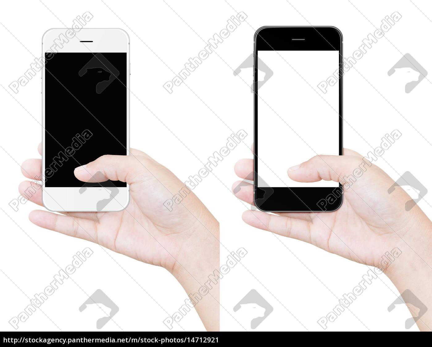mão, segurando, caminho, de, recorte, telefone - 14712921