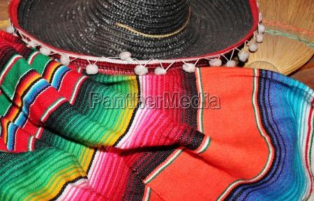 fundo mexicano do serape do poncho