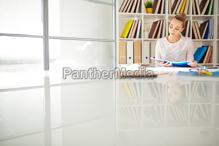 reader in library